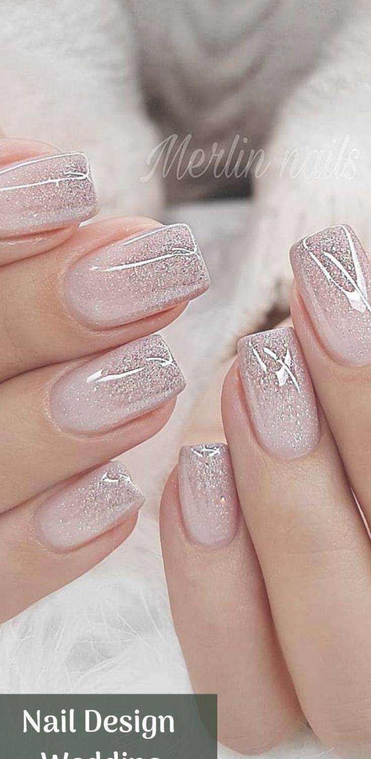 White Nails Bride Nails Wedding Nails Design Bridal Nails