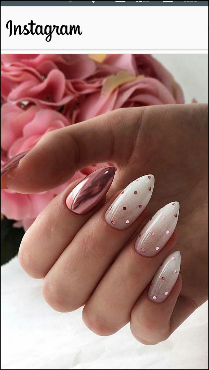 110 Perfect Pink And White Nails For Brides Page 40 Bile Nehty Manikura Zimni Nehty