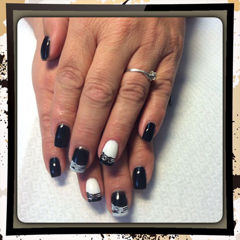 Black White Nails Beauty Black And White