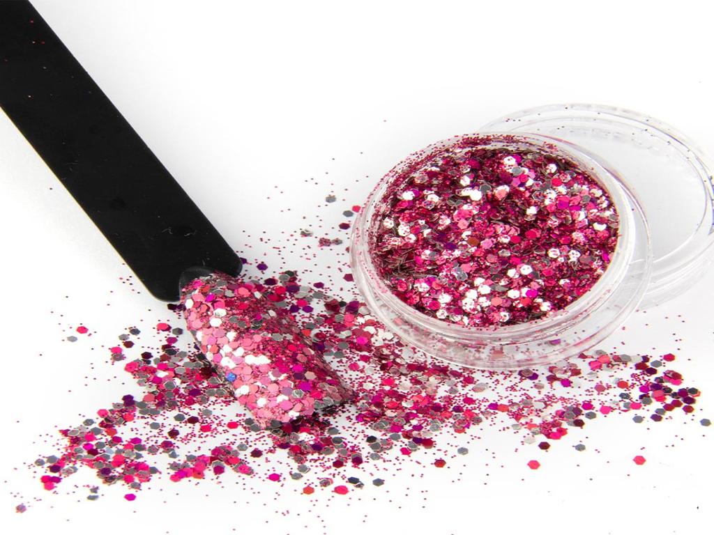 Glitter After Party Cerveno Stribrny