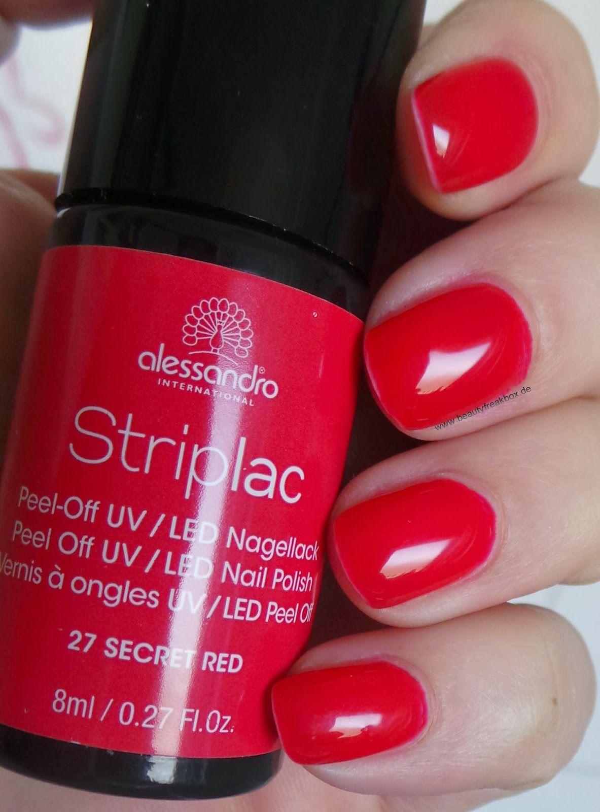 Alessandro International Striplac Peel Off Uv Led Nagellack 27 Secret Red Striplac Nagellack Gel Farbe