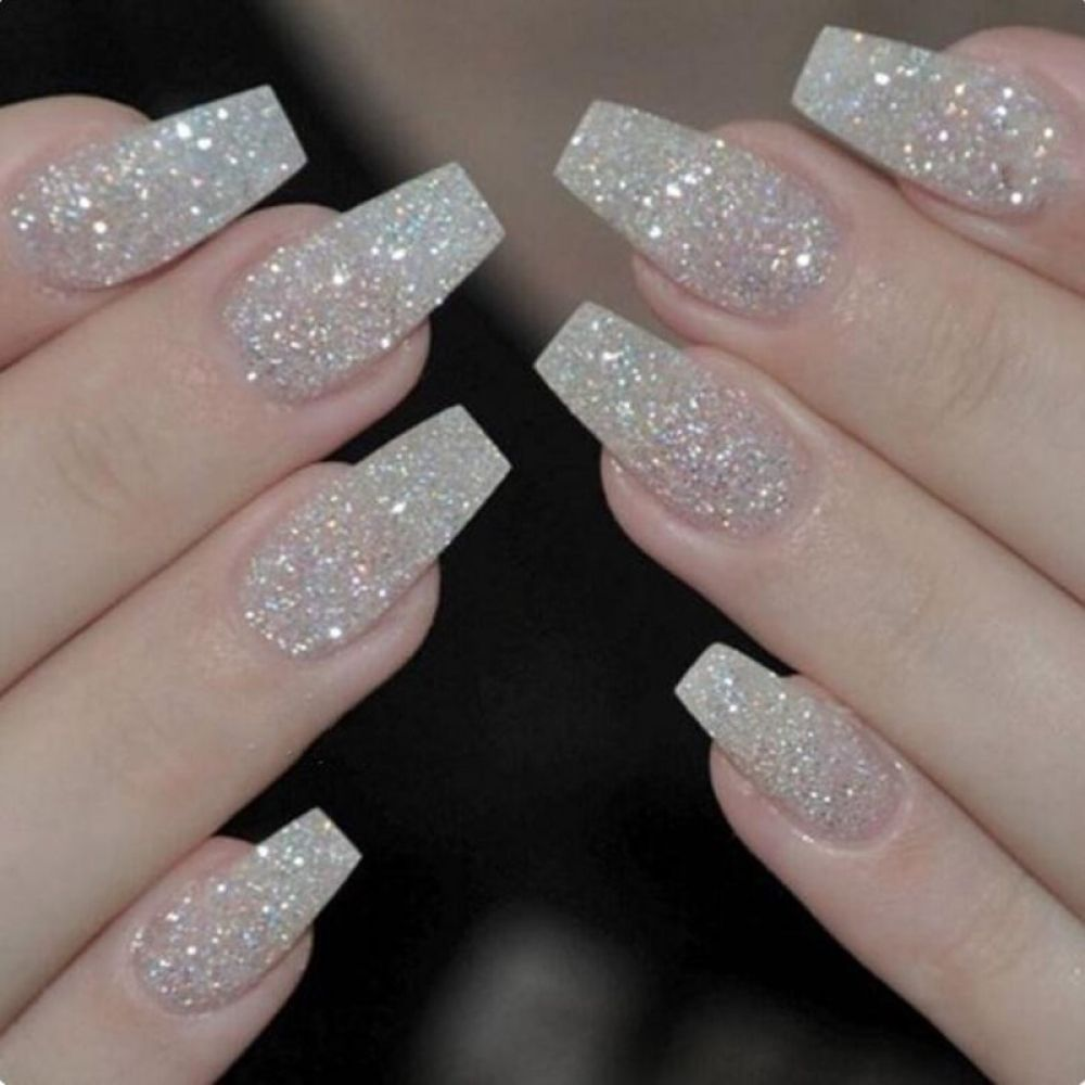 100pcs Box Ballerina Nails Acrylic False Nails Full Cover Natural White Clear Coffin Nail Tips Artificial French Fake Nail Tips Design Nehtu Gelove Nehty A Nehet