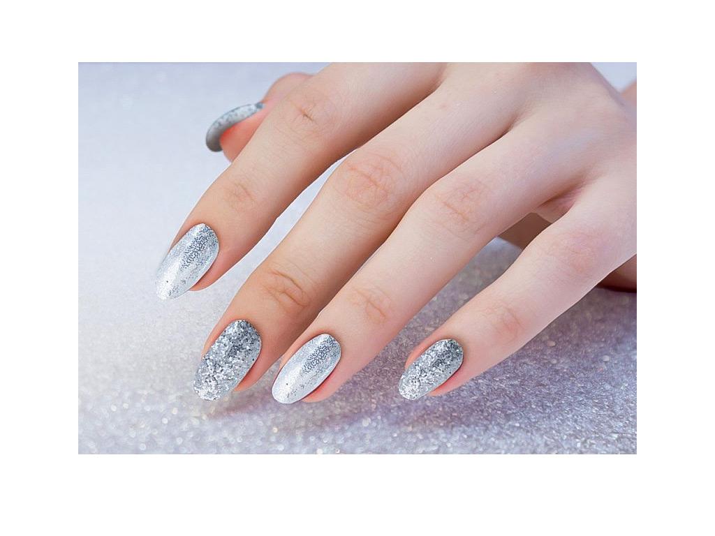 Glitter Sparkle Stribrny G306