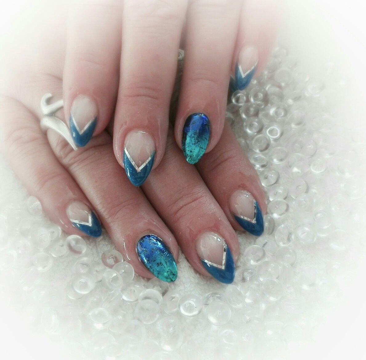 Blue Nails Nehty