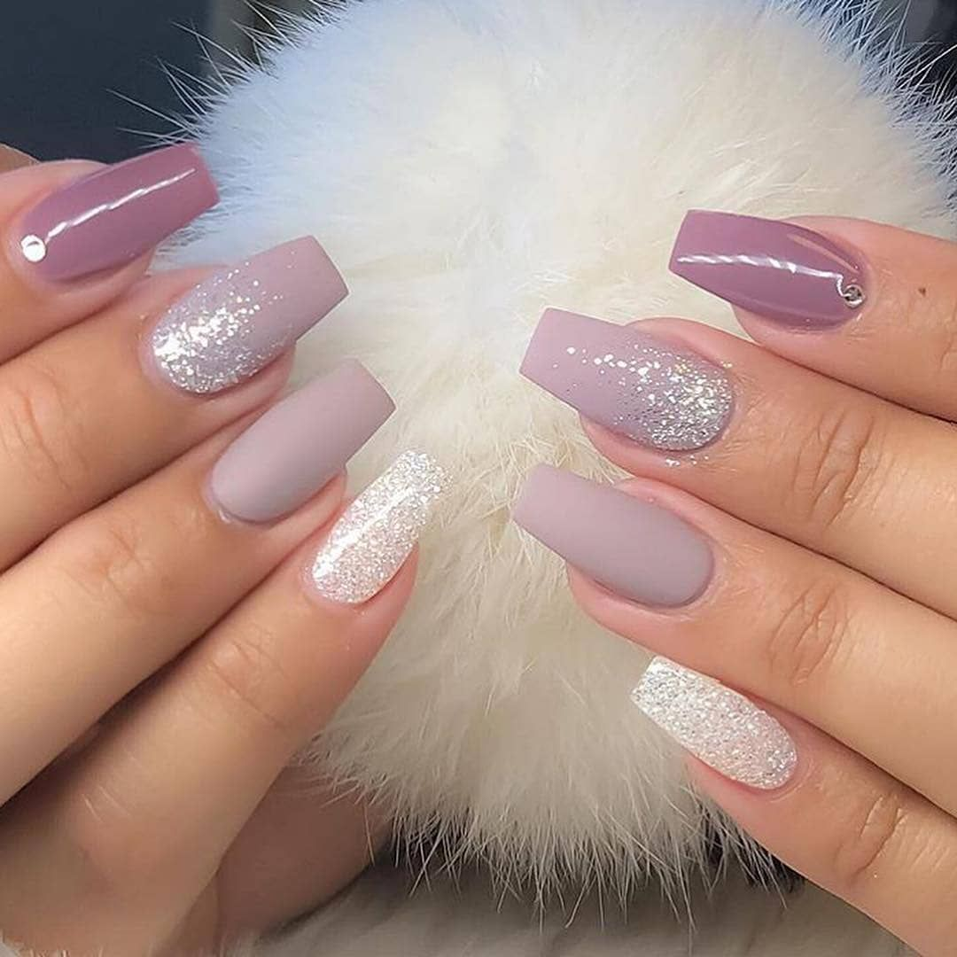 60 Simple Acrylic Coffin Nails Designs Ideas For 2019 Gelove Nehty Design Nehtu A Kvetinove Nehty