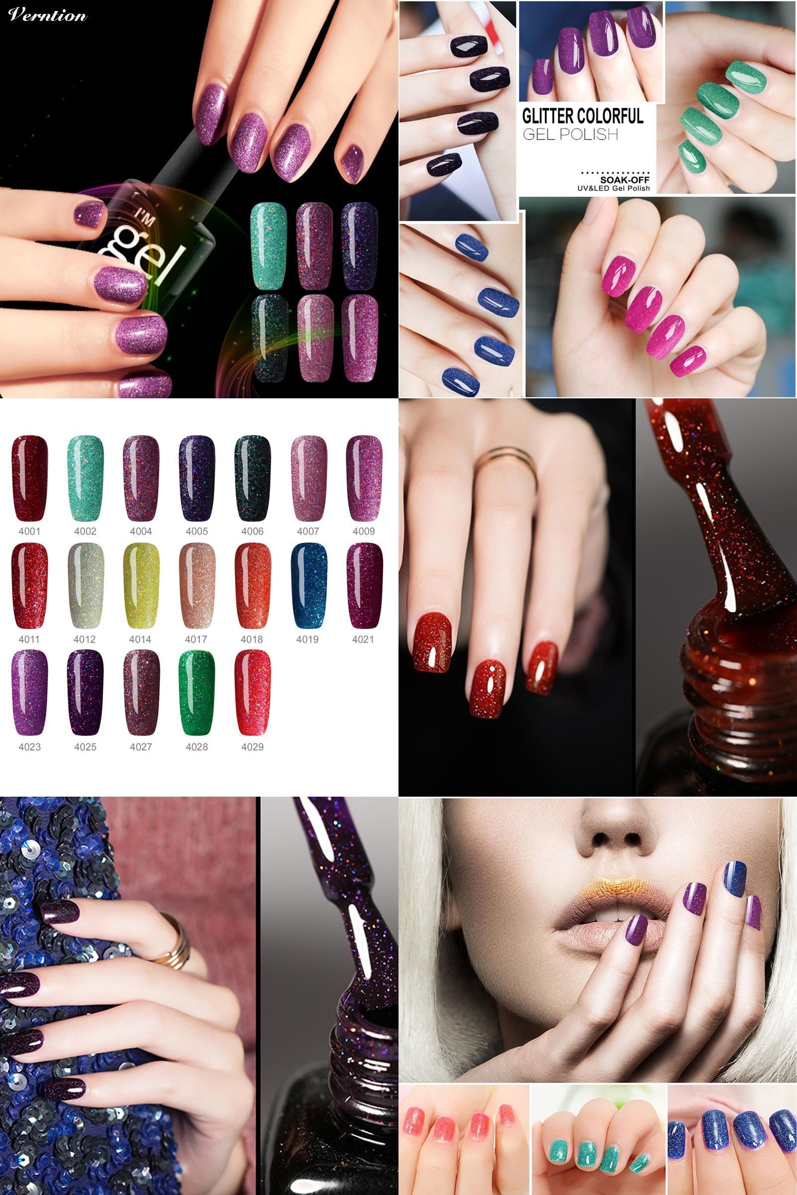 Visit To Buy 2017 Fashion Colorful Neon Gel Nail Polish Uv Lamp Soak Off Rainbow Bling 8ml Vernis Semi Perm With Images Gel Polish Nail Art Uv Nails Art Gel Nail Varnish