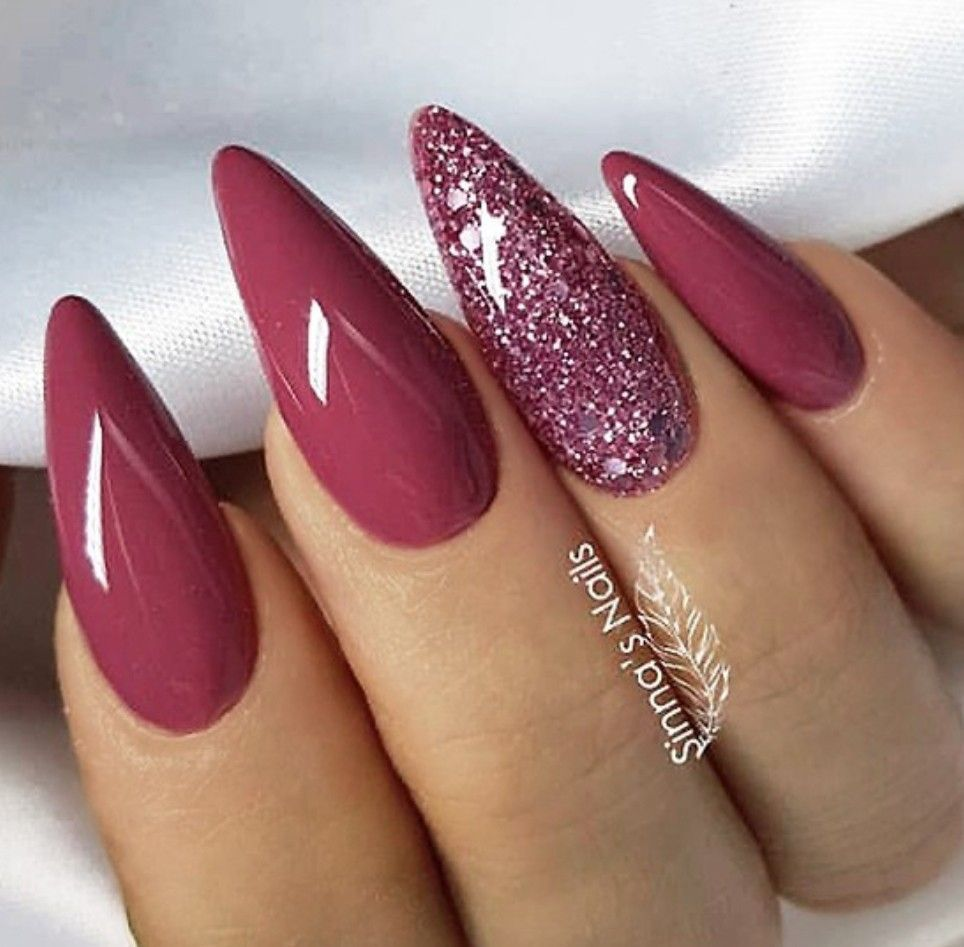 Unique Fall Nails Fall Nails Nails Nails Fallnails Long Almond Nails Simple Nails Gorgeous Nails
