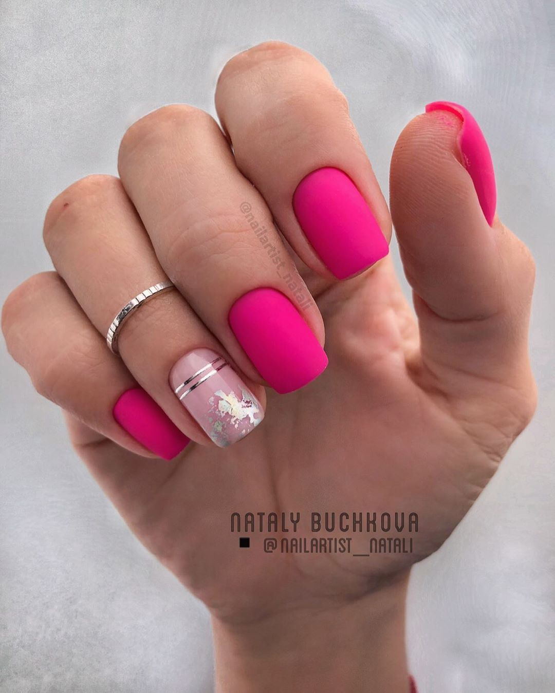 50 Pretty Matte Square Nail Art Designs In 2020 With Images Gelove Nehty Design Nehtu Nehty