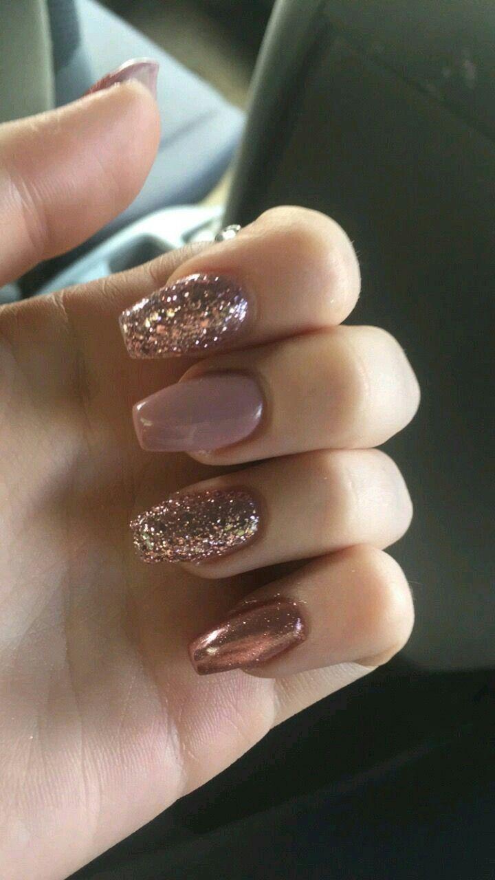Nails Nudenails Glitternails Design Nehtu Gelove Nehty Nehty