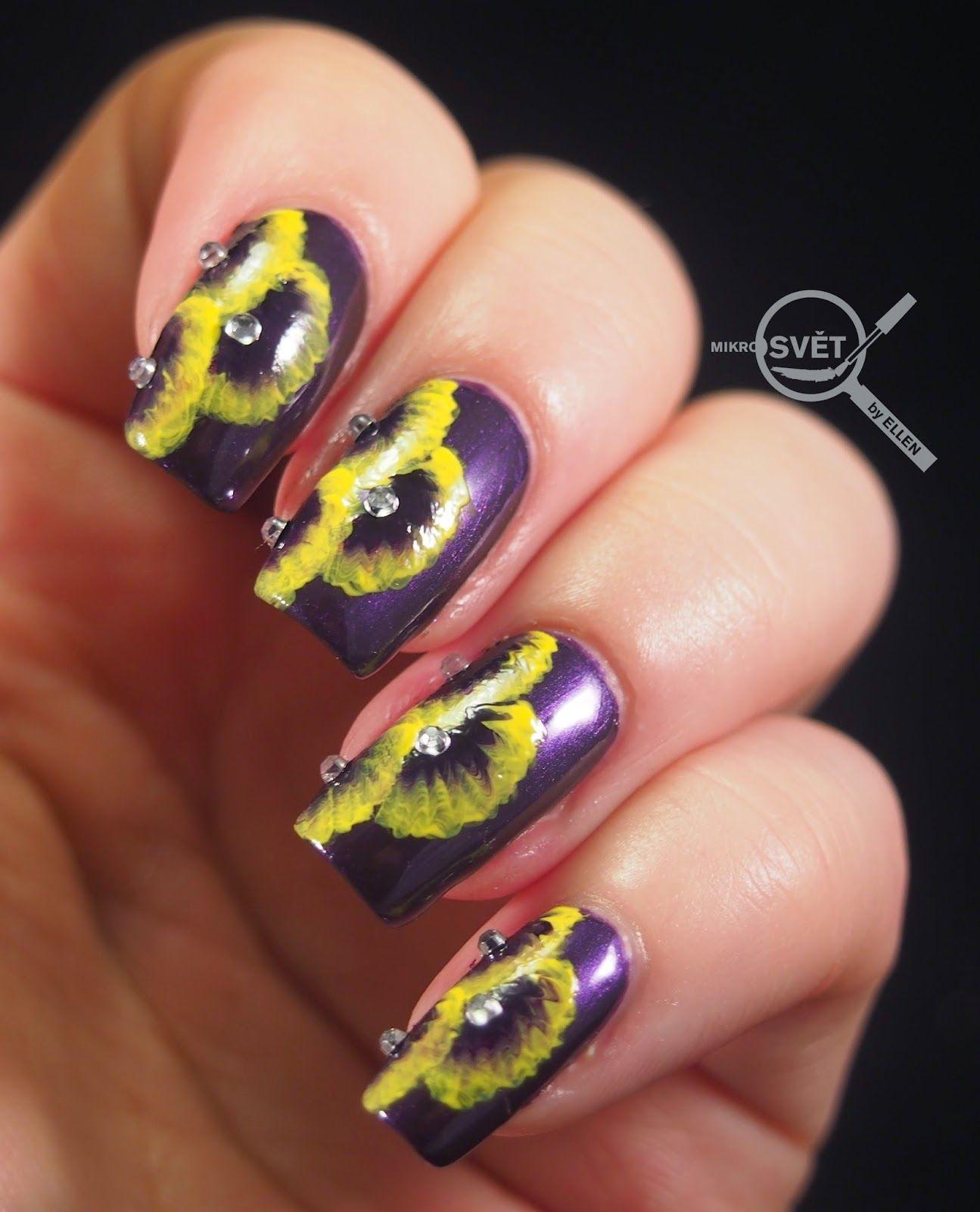 Nail Art Royal Flower Nail Art Nehty Lak Na Nehty