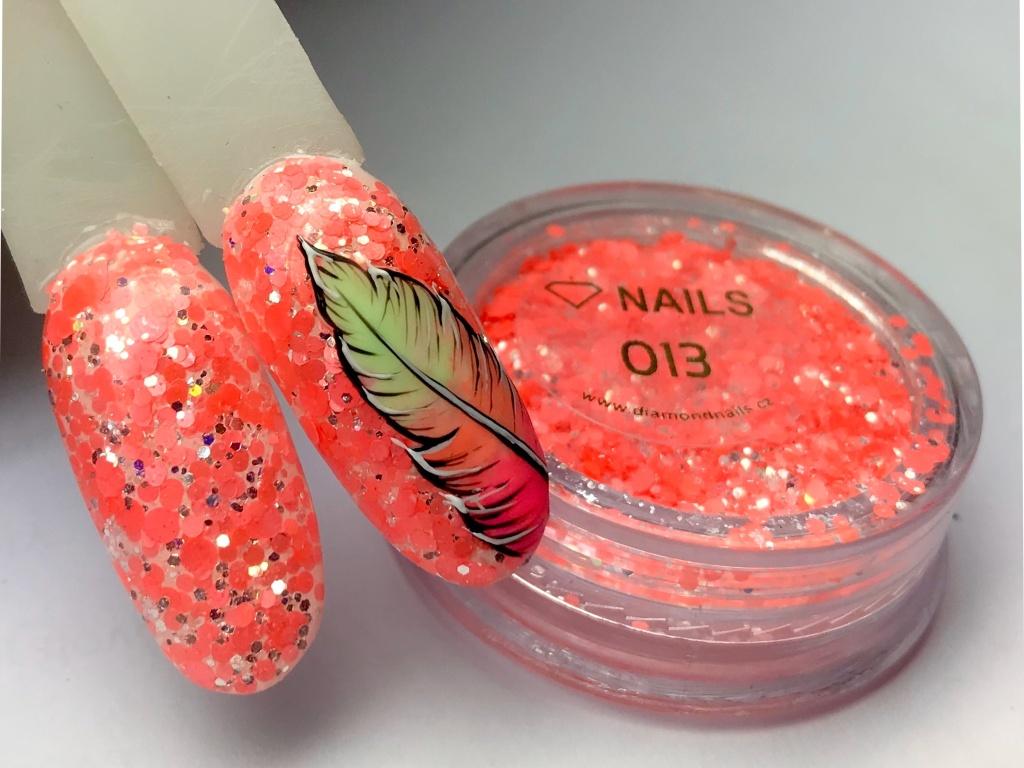 Neonovy Glitter Na Nehty Koralova