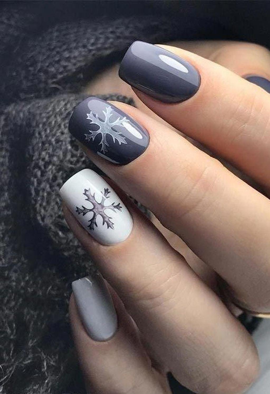 30 Amazing Winter Nails Color Ideas Trend 2019 Worldoutfits In 2020 Zelene Nehty Barevne Nehty Gelove Nehty