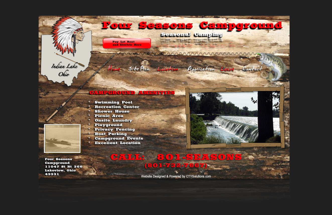 Four Seasons Campgrounds Ctysolutions Website Design Services