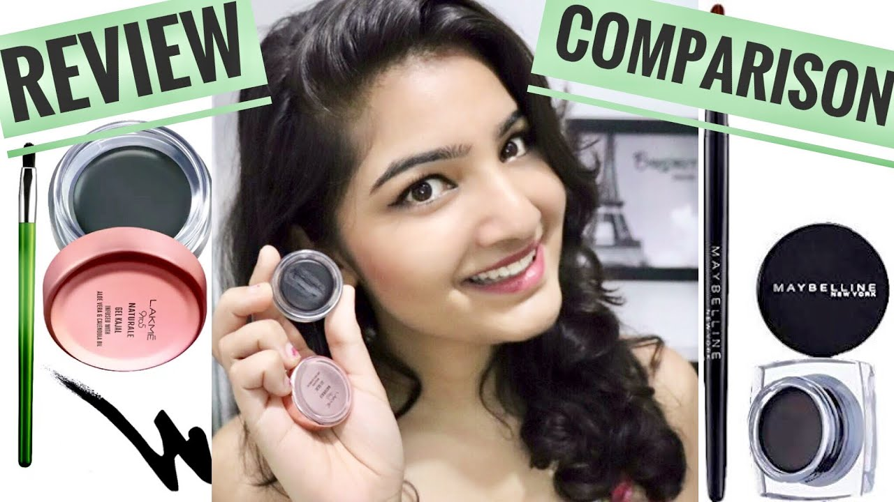 Lakme 9to5 Naturale Gel Kajal Review And Comparison Youtube