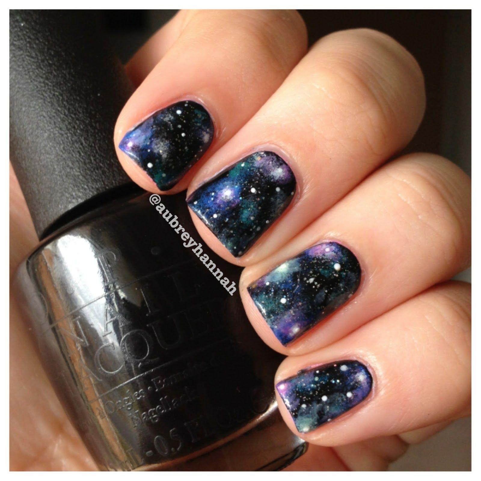 Galaxy Nails Tutorial Nehty