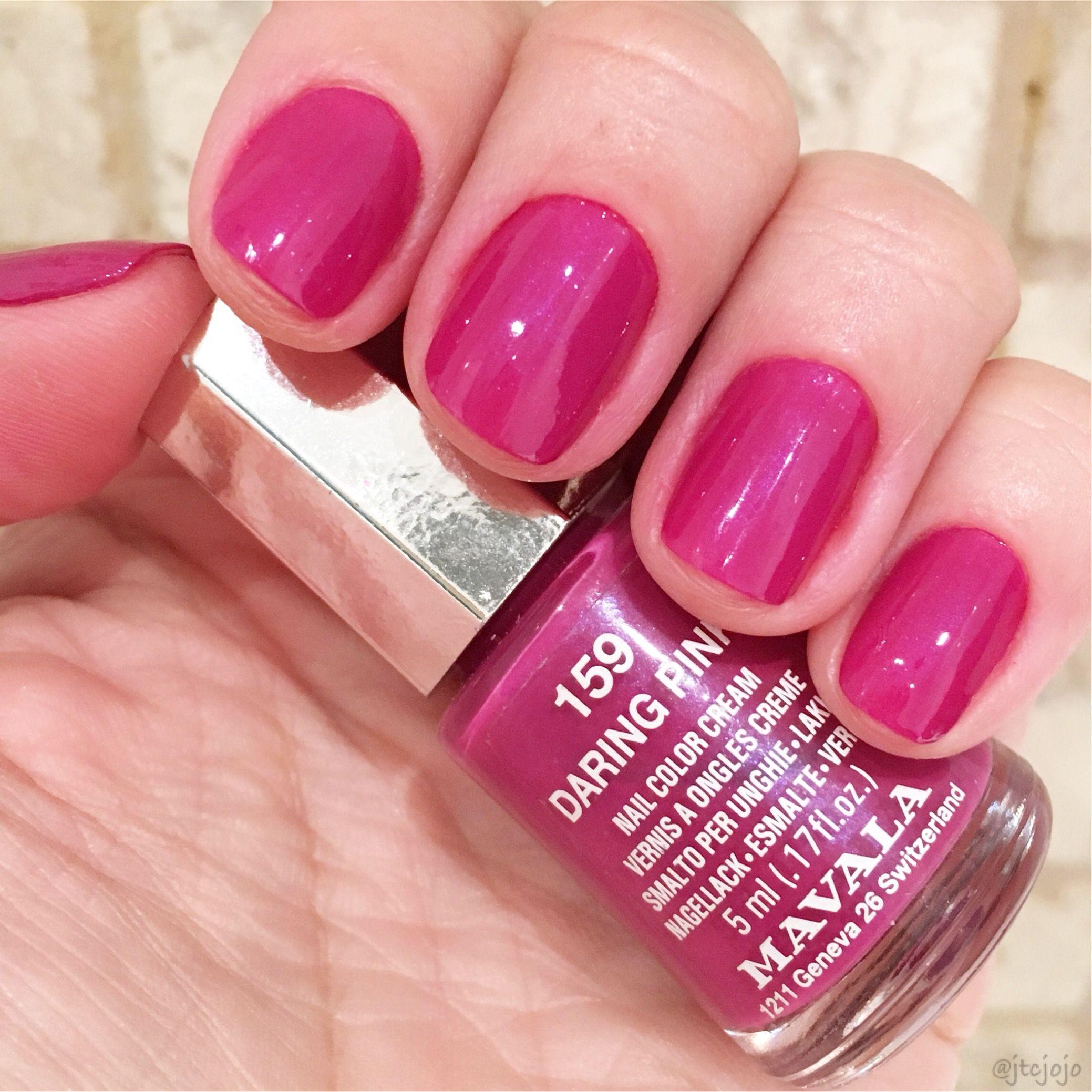 Daring Pink 159 Mavala Nail Polish Nail Polish Collection Mavala