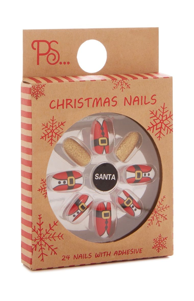 Ps Christmas Santa False Nails Primark Fake Nails Primark Nails Fake Nails For Kids