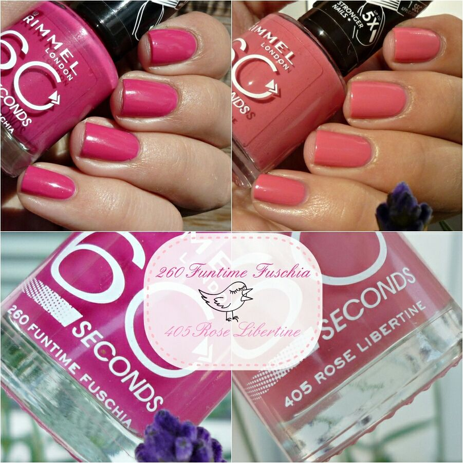 Rimmel London 60 Seconds 260 Funtime Fuschia 405 Rose Libertine Rimmel Krasa