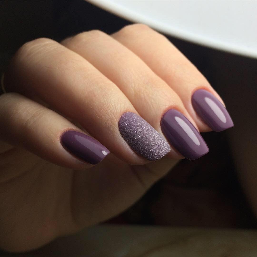 Purple With Textured Matte Accent Gelove Nehty Nehty Manikura
