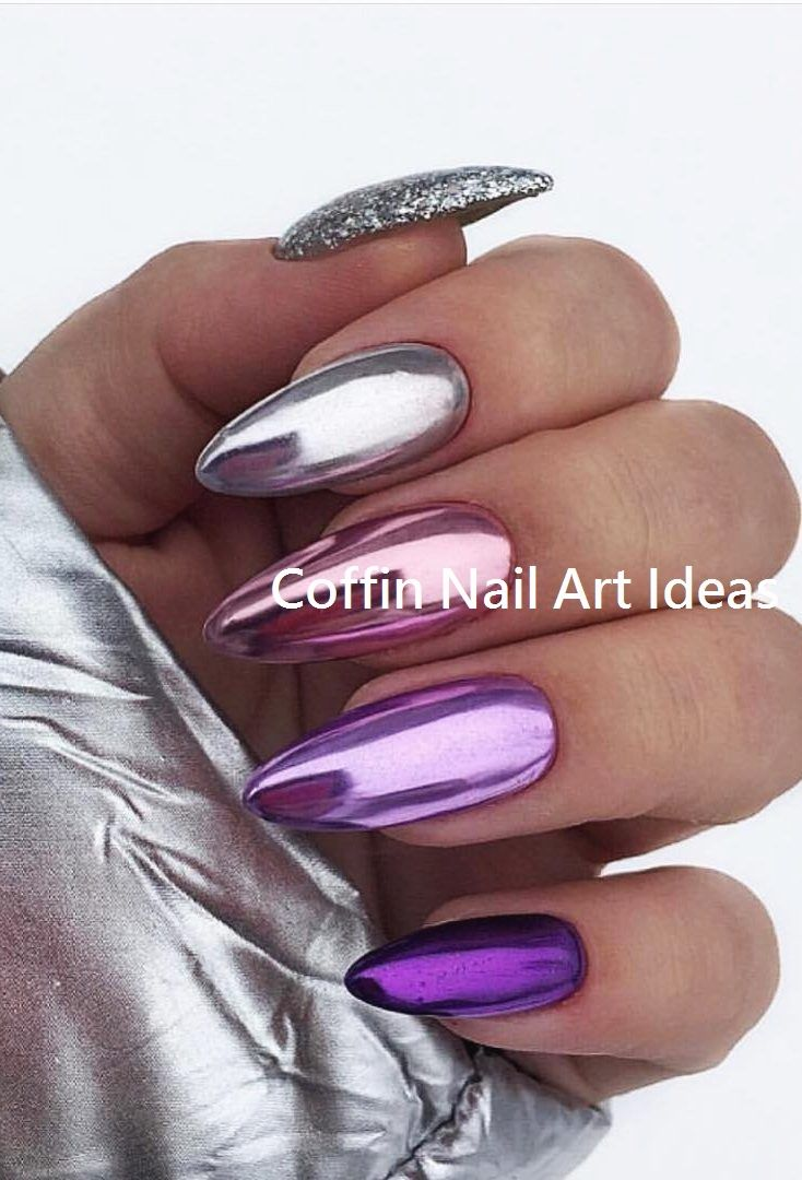 20 Trendy Coffin Nail Art Designs 2 Gelove Nehty Design Nehtu Nehet