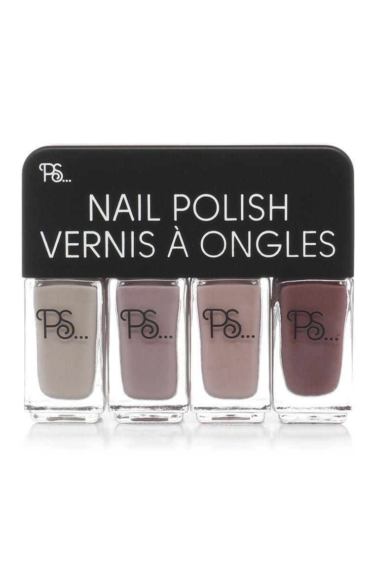 Primark Ps 4 Set Nail Polish Vernis A Ongles Ongles Maquillage Kawaii