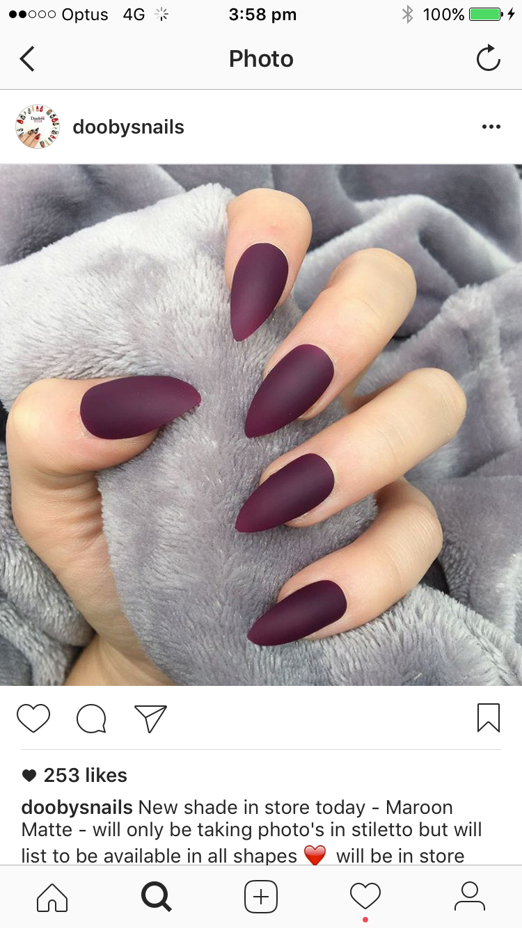 Pin By Kacull On Nails Matne Nehty Barevne Nehty Gelove Nehty
