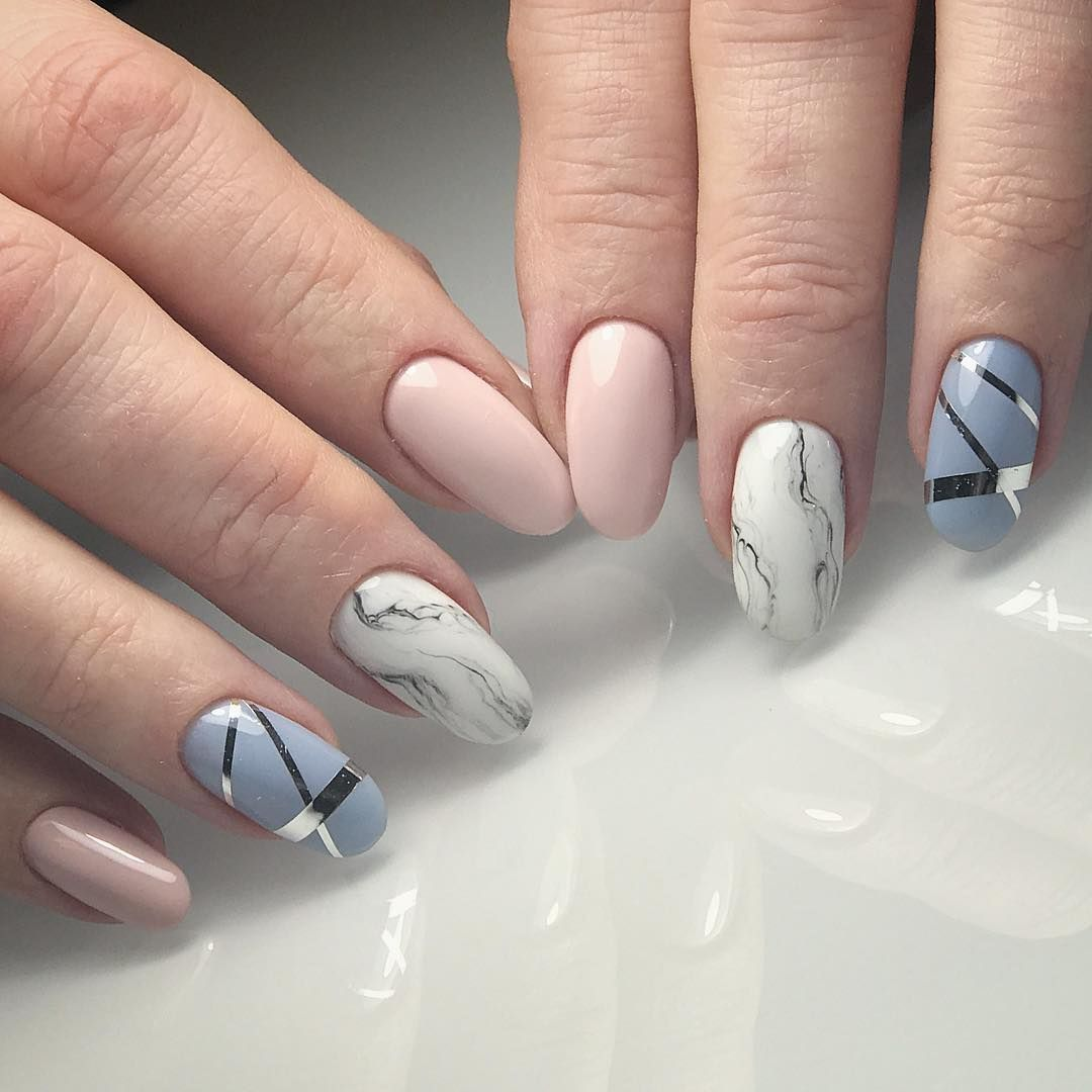 Marble Nail Design Abstract Elegant And Modern Shapes What Are Your Current Most Favorite Designs Crystalnails C Modern Nails Marble Nail Designs Nails