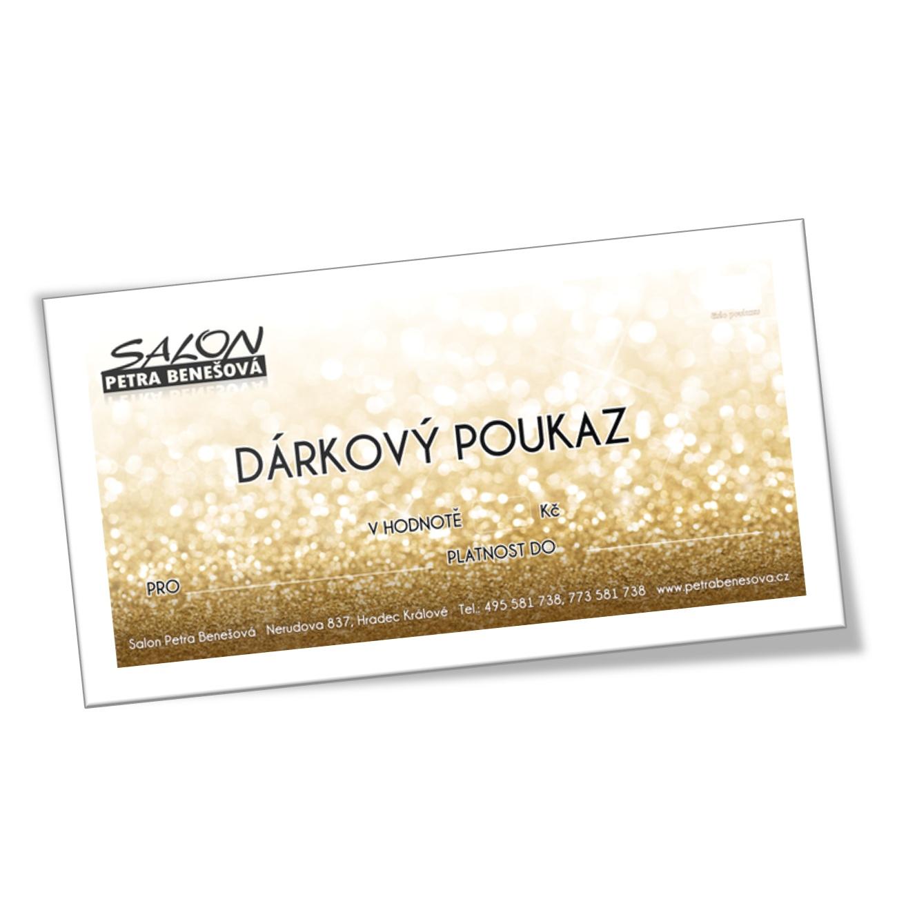 Darkovy Poukaz 500 Kc Online Verze Salon Petra Benesova