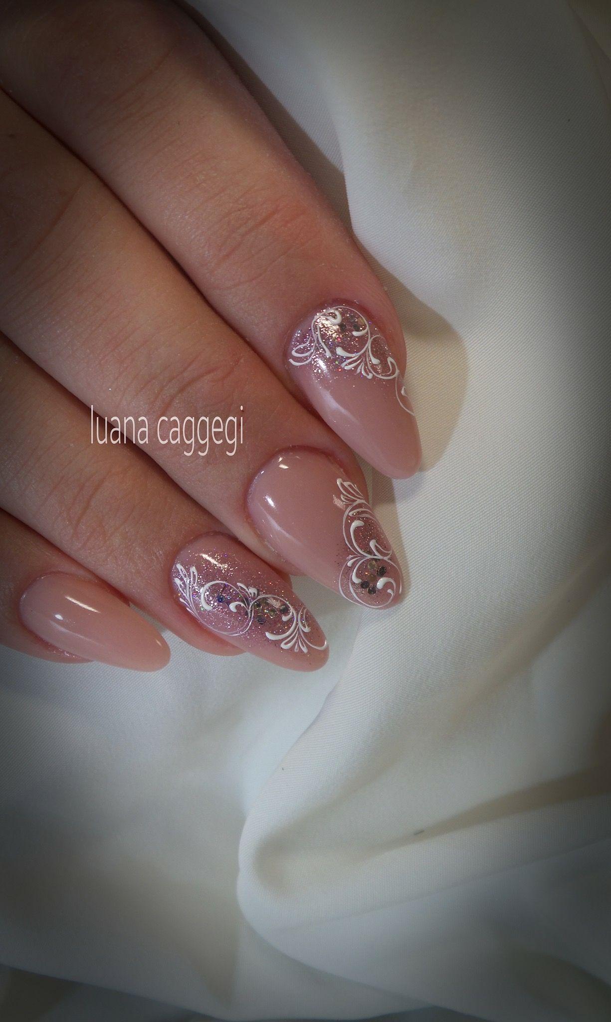 Pelikh Ideas Nails Pelikh Ideas Nails Ideas Nails Pelikh In 2020 Lace Nails Pink Nails Nail Art Wedding