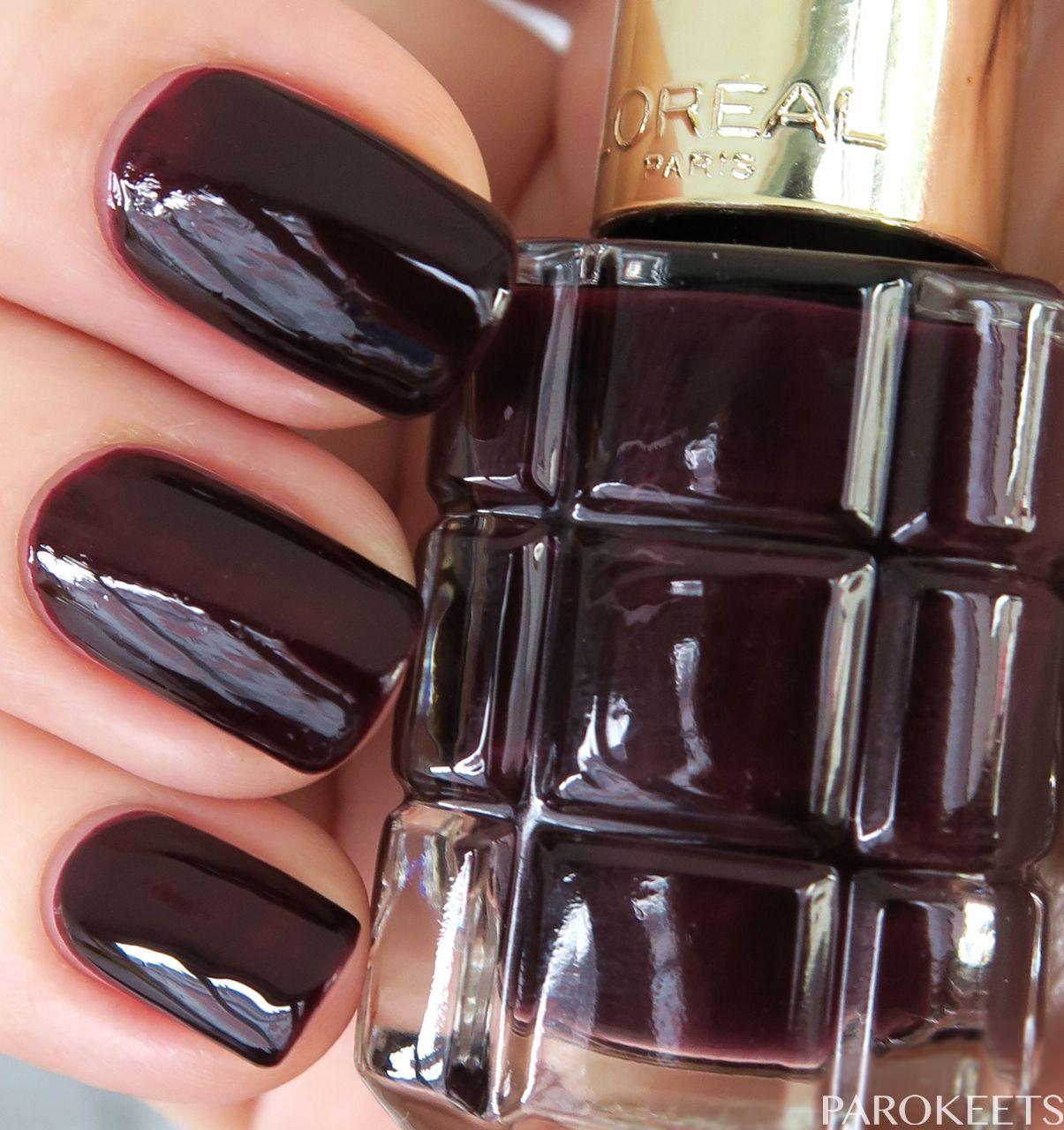 L Oreal Color Riche Le Vernis A L Huile Nail Polish Swatches Smalto