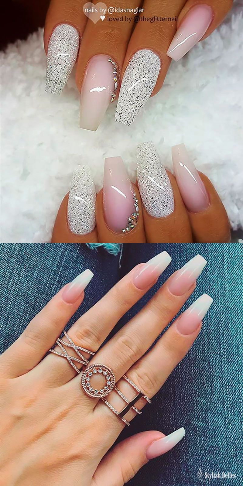 The Best Coffin Nails Ideas That Suit Everyone Gelove Nehty Akrylove Nehty Nehty