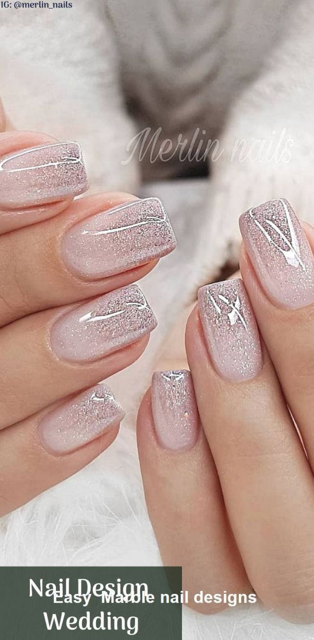 25 Design Of Marble Nails With Water And Nail Polish 2 Nail Design Nailideastrends In 2020 Jednoduche Nehty Ombre Nehty Gelove Nehty