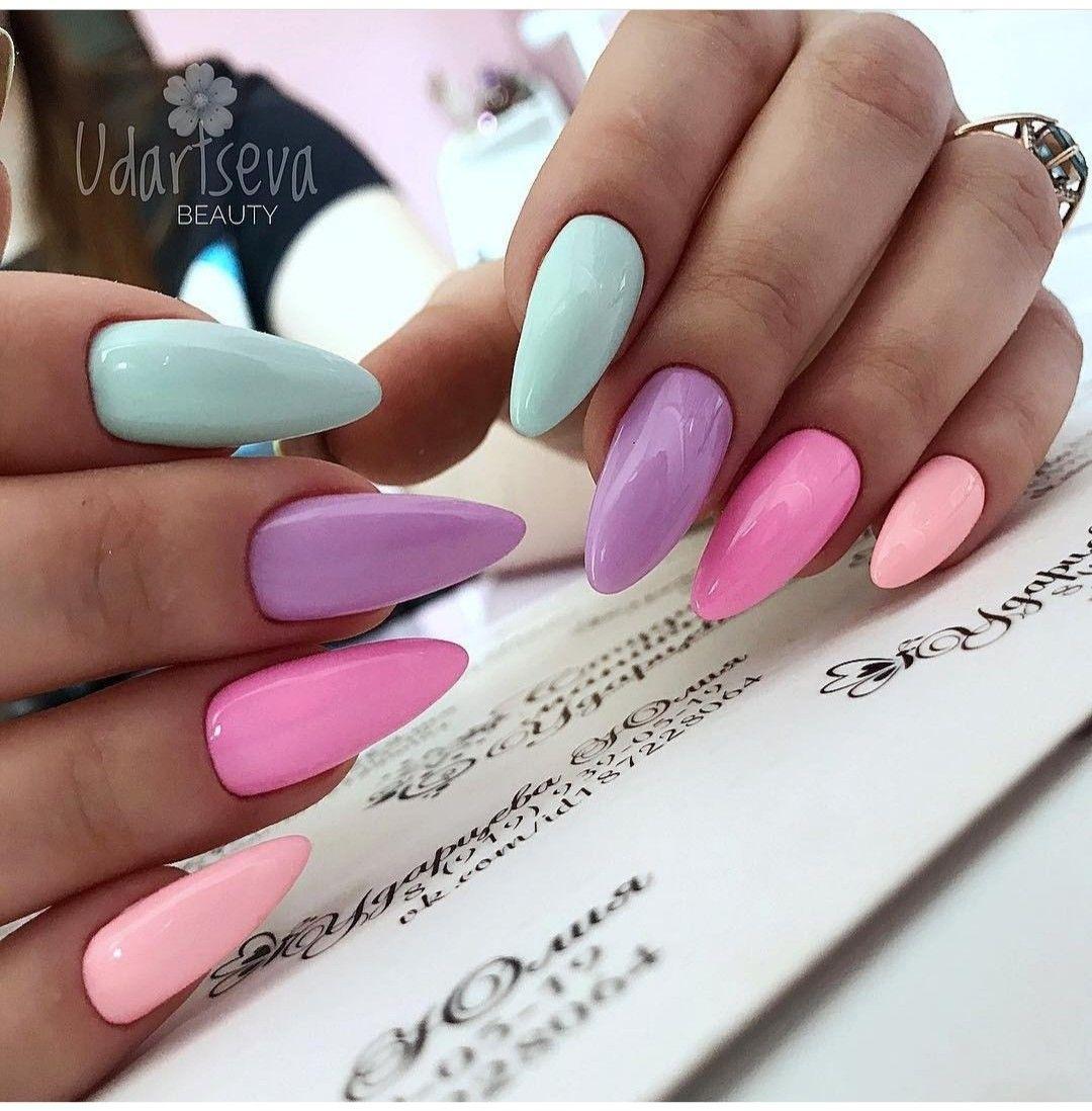 Pin By Anna Padun On Nails Barevne Nehty Gelove Nehty Pastelove Nehty