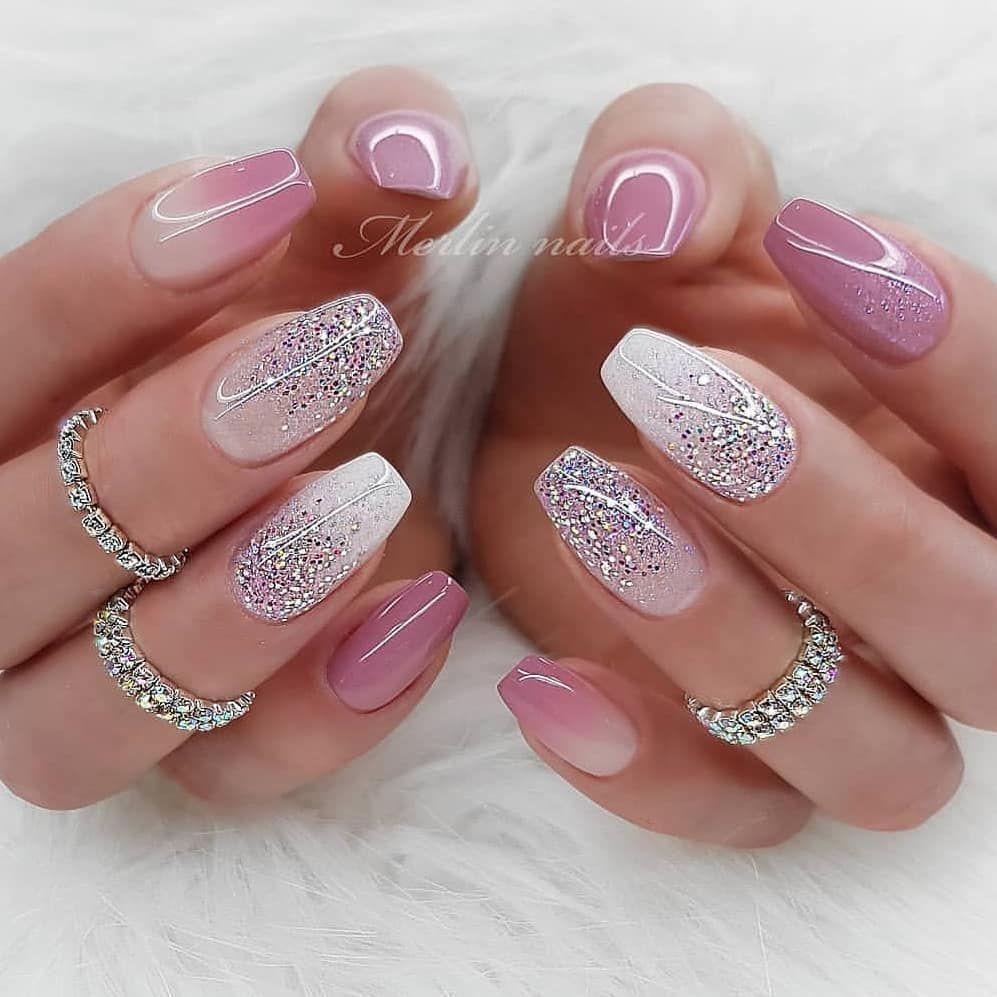Pin By Jana Linhartova On Manikyur In 2020 Pretty Nail Art Designs Nail Colors Winter Pretty Nail Designs