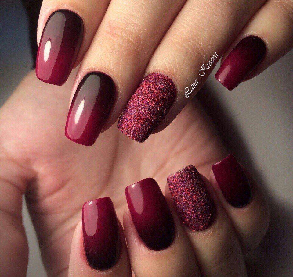 Pin By Hana Krakorova On Nails Manicure Nail Designs Nail Art Ombre Burgundy Nails