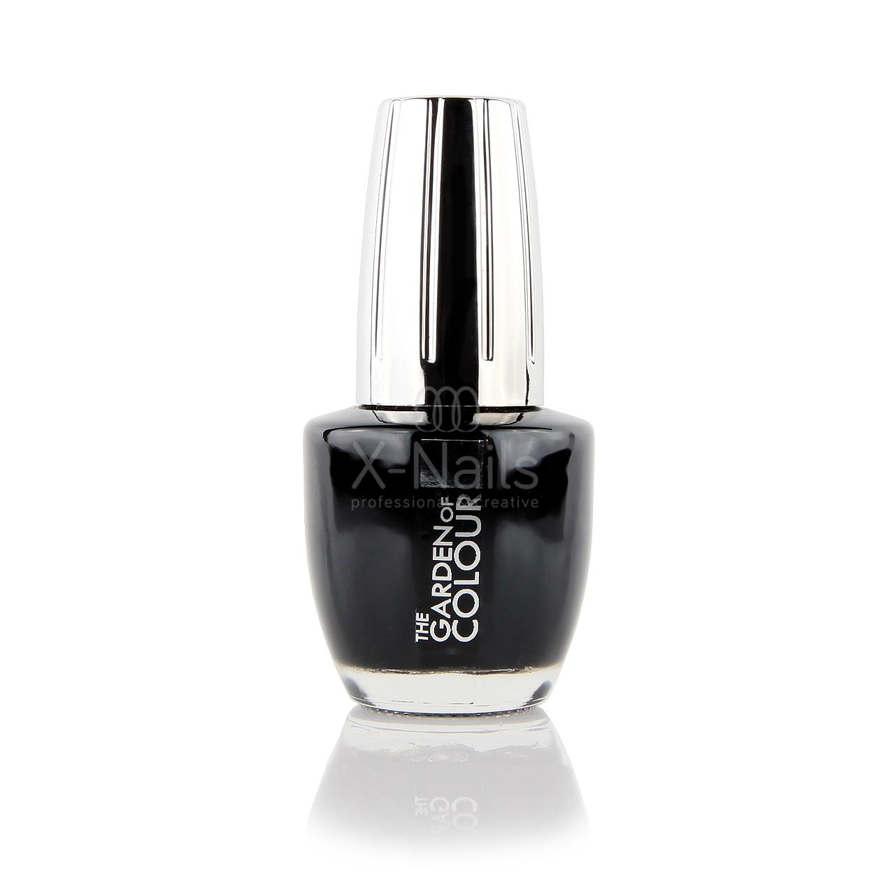X Nails Lak Na Nehty Color Line 15 Ml Black Matny 37