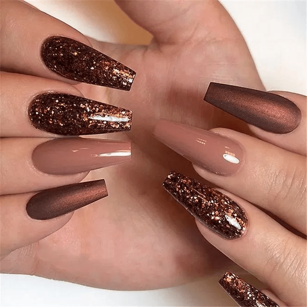 40 Beautiful Autumn Nails Design And Color Ideas 2019 With Images Design Nehtu Gelove Nehty Nehty