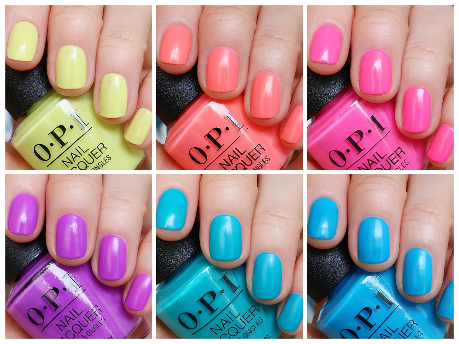Lakierowa Mania Mani Beauty Blog Opi Kolekcja Neons By Opi