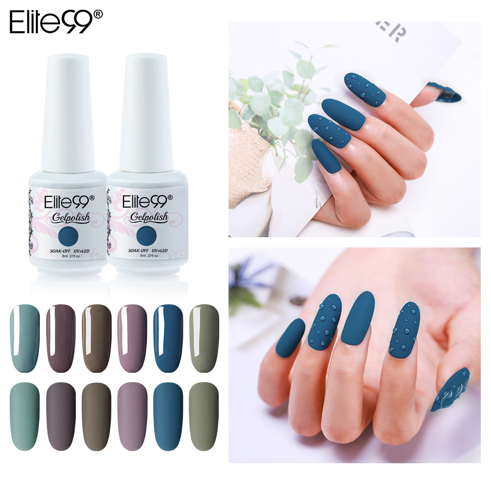 Elite99 8ml Vanilla Gray Gel Polish Uv Led Nail Varnish Primer Gel Polish Salon Manicure Matte Shiny Effect Nail Art Gel Lak Nail Gel Aliexpress