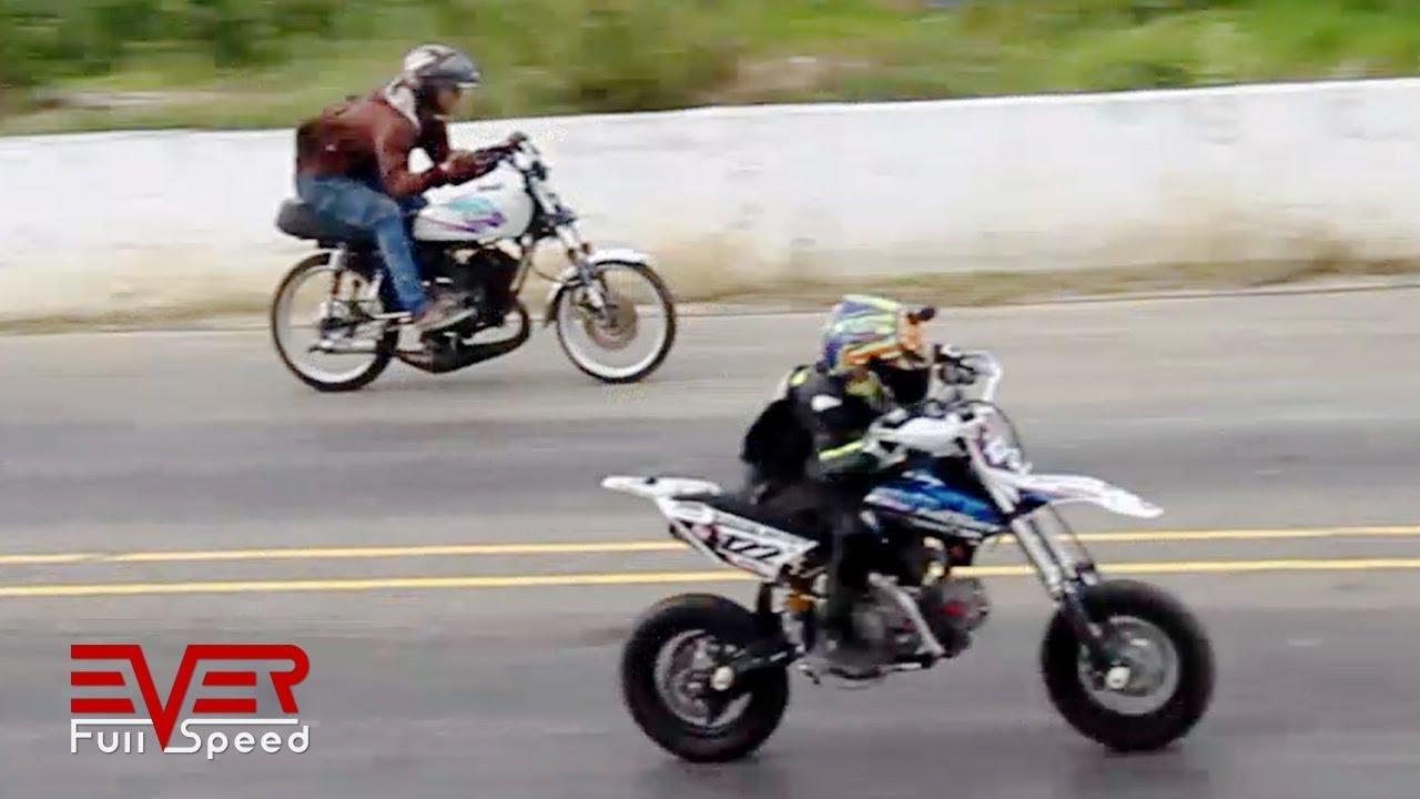 Yamaha Dt Vs Yamaha Rx Vs Ycf 150 Drag Races 17 Seg I Valida Motos 2017 Youtube