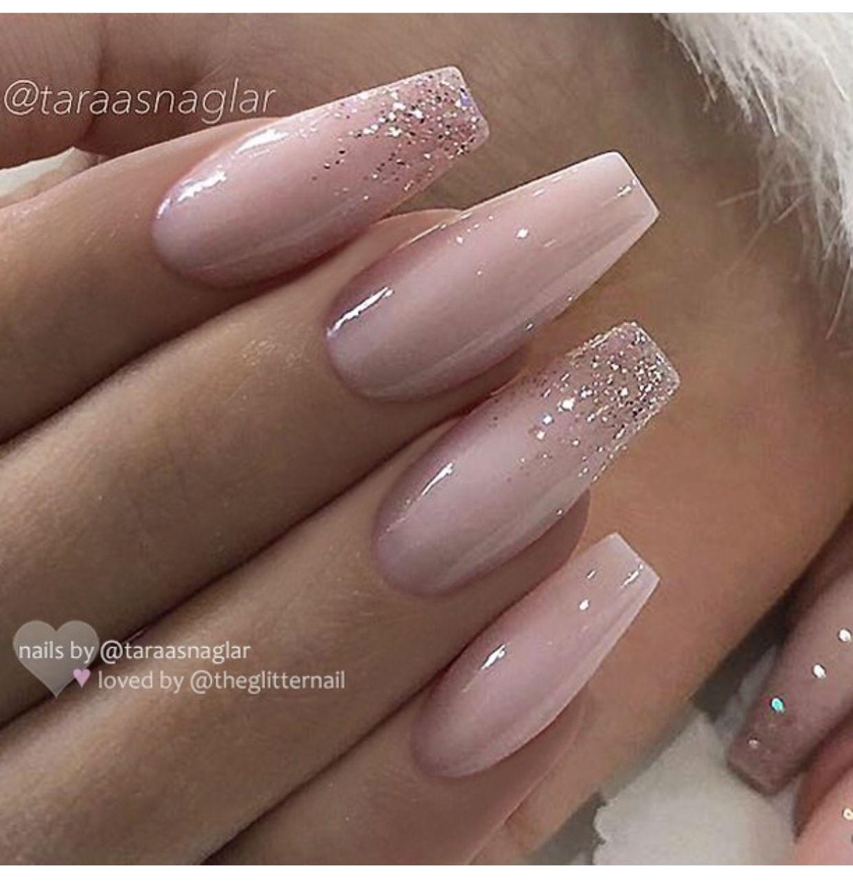 Pin By Lenka Svadlenkova On Nails Ombre Acrylic Nails Fake Nails Ballerina Nails