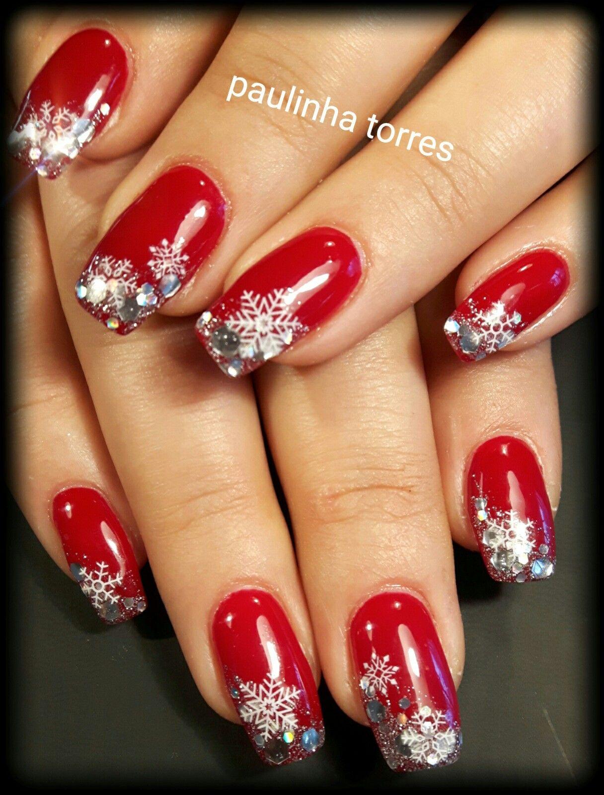 Christmas Nails Cervene Nehty Gelove Nehty Design Nehtu