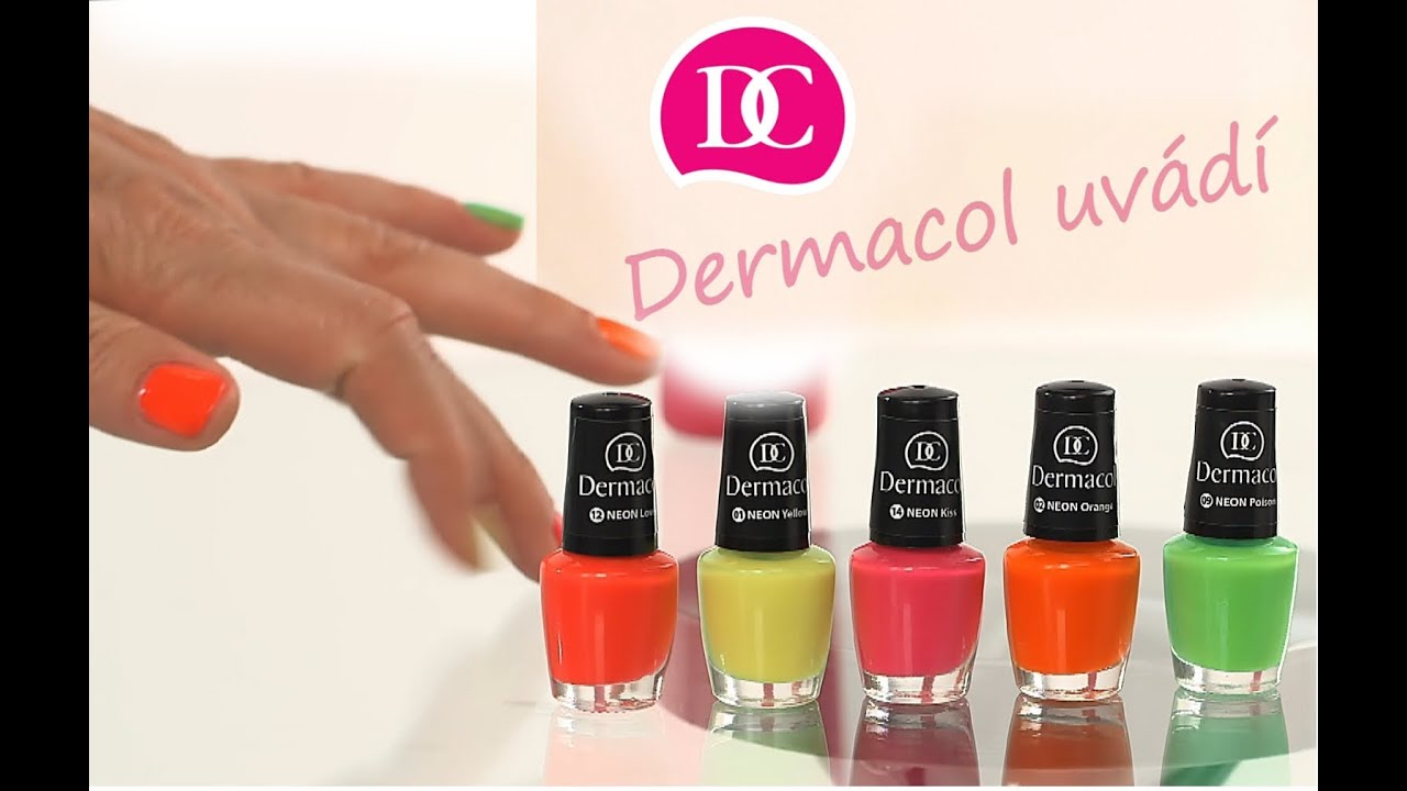 Dermacol Neon Polish Neonovy Lak Na Nechty 12 Neon Love 5 Ml Vmd Drogerie