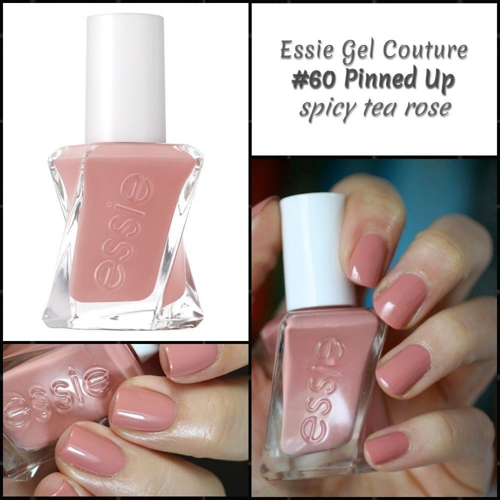 Essie Gel Couture Longwear Nail Color Lacquer Polish 60 Pinned Up Essie Gel Couture Essie Gel Essie Gel Couture Swatches