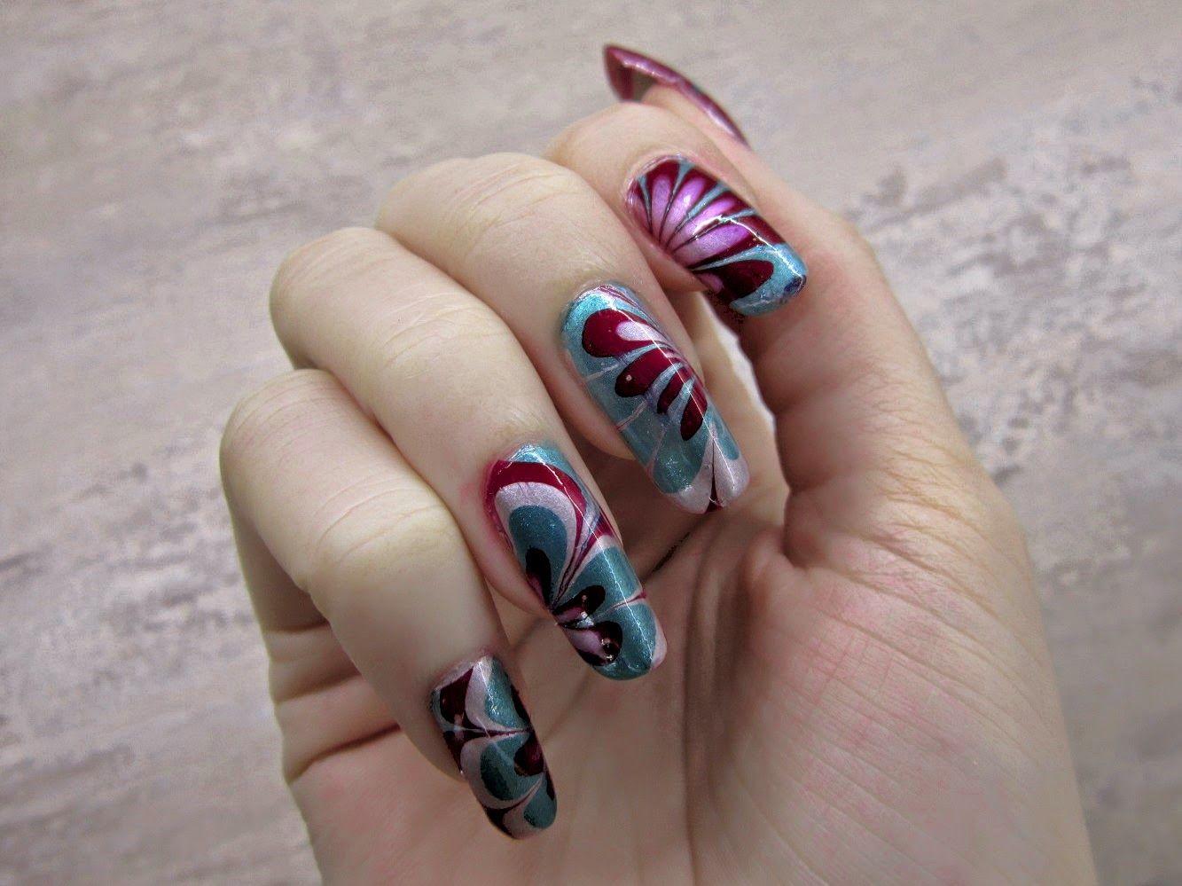 Metalicke Hratky Nail Art Tutorial With Images Nail Art Nehty Lak Na Nehty