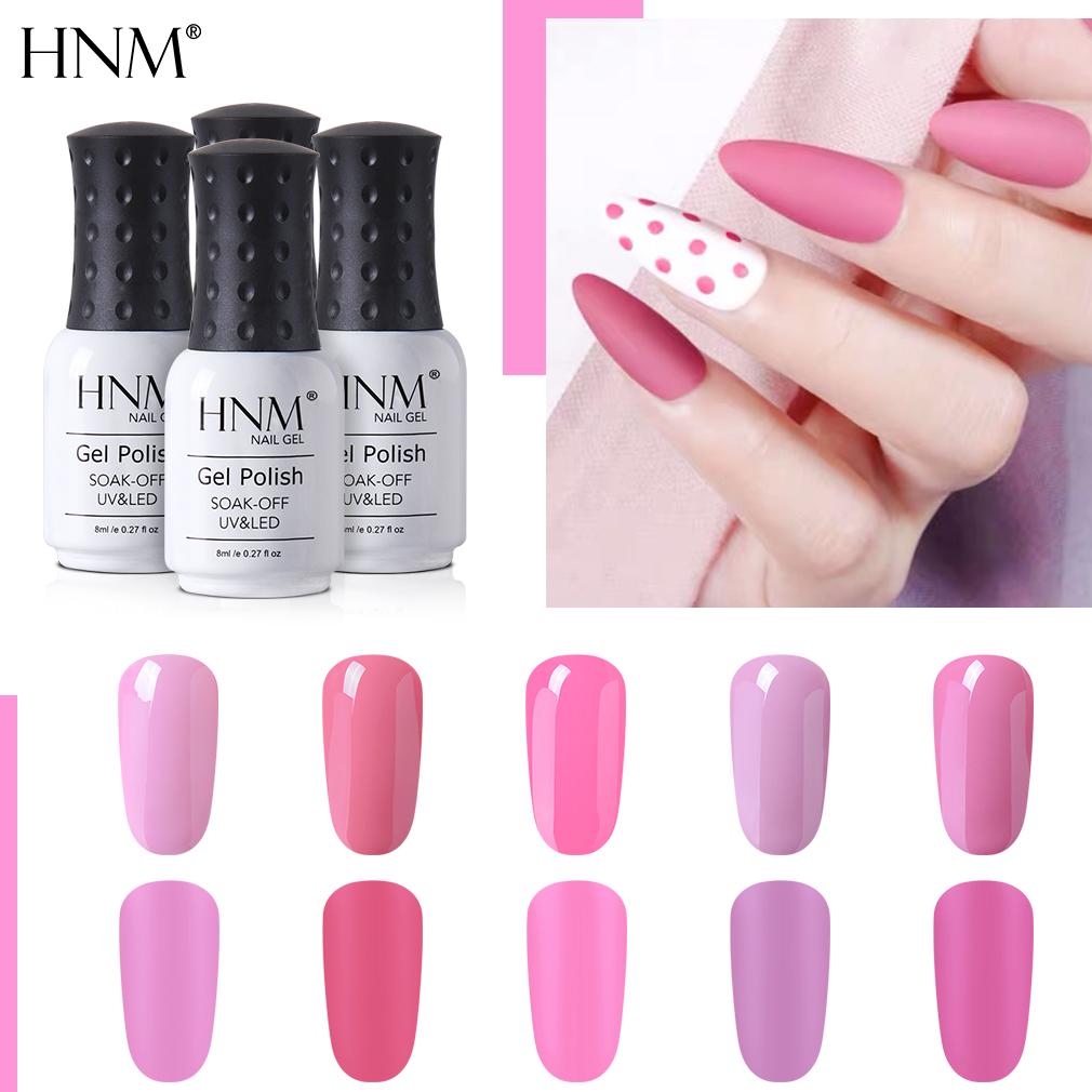 Hnm Pink Matte Effect Gel Nail Polish Need Matt Top Coat Base Top Semi Permanent Uv Led Lamp Hybrid Varnishes Lacquer Gellak Nail Gel Aliexpress