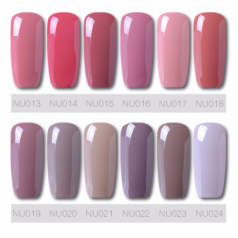 Nude Color Long Lasting Gel Nail Polish 24 Colors Korean Fashion For You