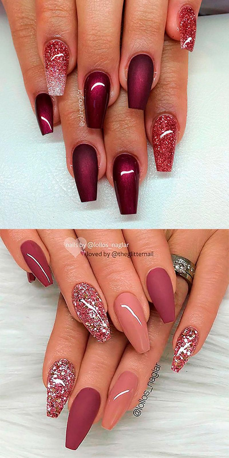The Best Coffin Nails Ideas That Suit Everyone Fialove Nehty Gelove Nehty Dlouhe Nehty