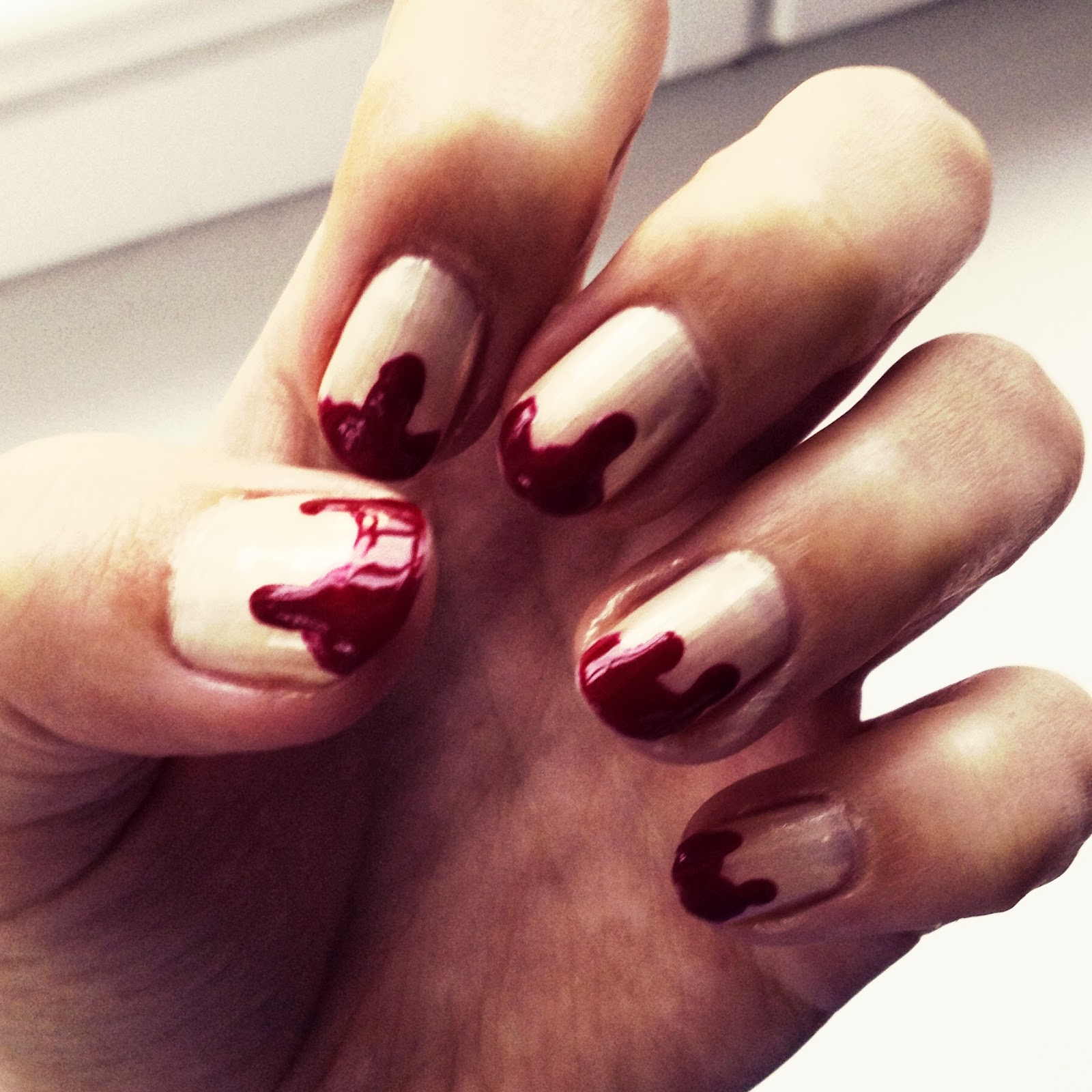 Halloween Bloody Nails Tutorial Flabgee