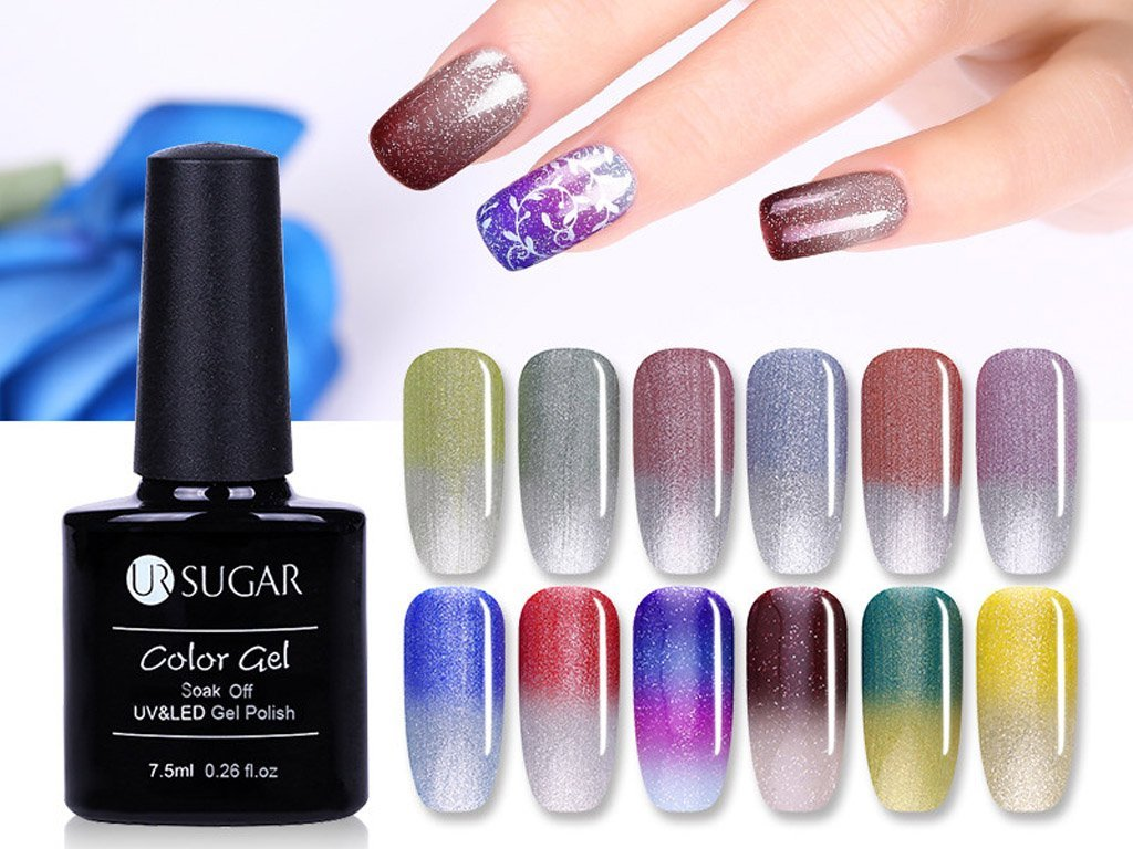 Uv Gel Nail Polish With Changing Color According To Weather Free Shipping Consignmenter Com